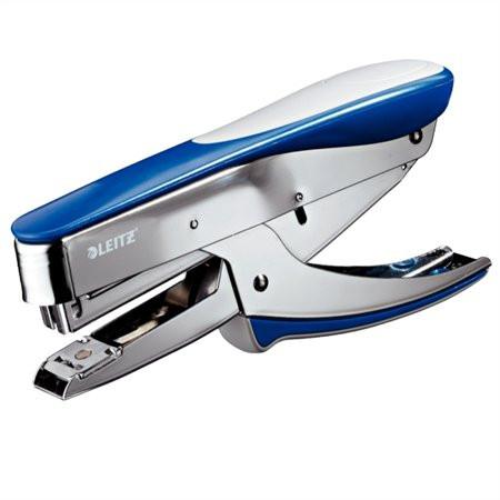 """LEITZ Tűzőgép, kézi, 24/6, 26/6, 30 lap, LEITZ """"5548"""", metál kék"""