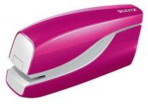 """LEITZ Tűzőgép, elektromos, No.10, 10 lap, LEITZ """"Wow"""", rózsaszín"""