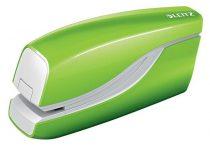 """LEITZ Tűzőgép, elektromos, No.10, 10 lap, LEITZ """"Wow"""", zöld"""