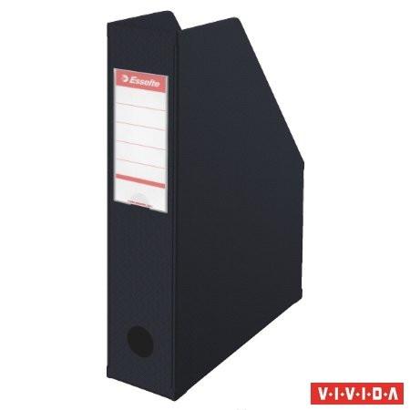 ESSELTE Iratpapucs, PVC/karton, 70 mm, összehajtható, ESSELTE, Vivida fekete