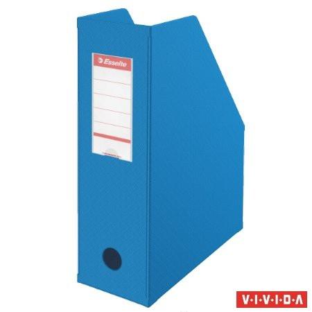 ESSELTE Iratpapucs, PVC/karton, 100 mm, összehajtható, ESSELTE, Vivida kék