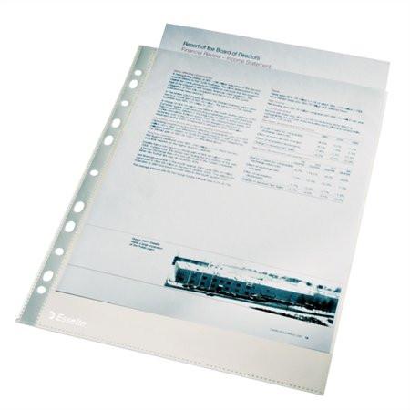 """ESSELTE Genotherm, lefűzhető, A4, 43 mikron, narancsos felület, dobozban, ESSELTE """"Standard"""""""