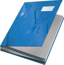 """LEITZ Aláírókönyv, A4, 18 részes, karton, LEITZ """"Design"""", kék"""