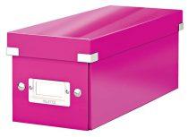 """LEITZ CD tároló doboz, lakkfényű, LEITZ """"Click&Store"""", rózsaszín"""