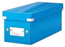 """LEITZ CD tároló doboz, lakkfényű, LEITZ """"Click&Store"""", sötétkék"""