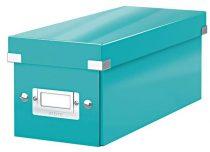 """LEITZ CD tároló doboz, lakkfényű, LEITZ """"Click&Store"""", jégkék"""