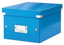 """LEITZ Irattároló doboz, A5, lakkfényű, LEITZ """"Click&Store"""", kék"""