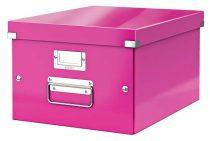 """LEITZ Irattároló doboz, A4, lakkfényű, LEITZ """"Click&Store"""", rózsaszín"""