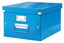 """LEITZ Irattároló doboz, A4, lakkfényű, LEITZ """"Click&Store"""", kék"""
