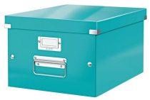 """LEITZ Irattároló doboz, A4, lakkfényű, LEITZ """"Click&Store"""", jégkék"""