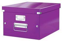 """LEITZ Irattároló doboz, A4, lakkfényű, LEITZ """"Click&Store"""", lila"""