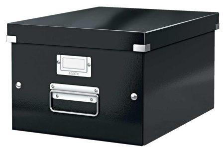 """LEITZ Irattároló doboz, A4, lakkfényű, LEITZ """"Click&Store"""", fekete"""