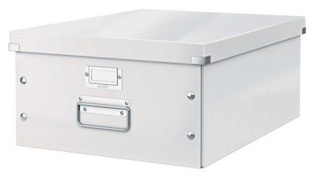 """LEITZ Irattároló doboz, A3, lakkfényű, LEITZ """"Click&Store"""", fehér"""
