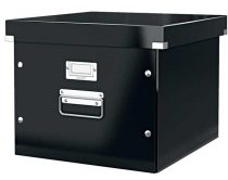 """LEITZ Irattároló doboz, függőmappának, lakkfényű, LEITZ """"Click&Store"""", fekete"""