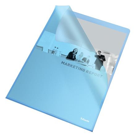 "ESSELTE Genotherm, ""L"", A4, 105 mikron, narancsos felület, ESSELTE ""Standard"", kék"