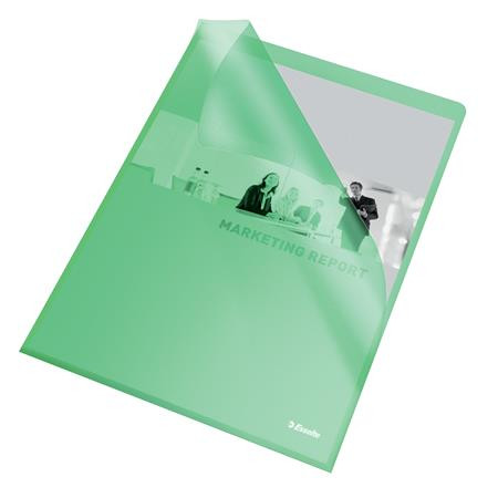 "ESSELTE Genotherm, ""L"", A4, 105 mikron, narancsos felület, ESSELTE ""Standard"", zöld"