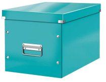"""LEITZ Tároló doboz, lakkfényű, L méret, LEITZ """"Click&Store"""", jégkék"""