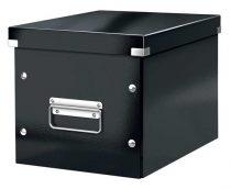 """LEITZ Tároló doboz, lakkfényű, M méret, LEITZ """"Click&Store"""", fekete"""