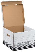 """LEITZ Archiváló doboz, M méret, LEITZ """"Solid"""", fehér"""