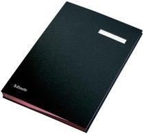 ESSELTE Aláírókönyv, A4, 20 részes, karton, ESSELTE,fekete