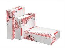 """ESSELTE Archiváló doboz, A4, 80 mm, újrahasznosított karton, felfelé nyíló, ESSELTE """"Speedbox"""", fehér"""