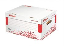 """ESSELTE Archiváló konténer, S méret, újrahasznosított karton, ESSELTE """"Speedbox"""", fehér"""