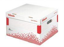 """ESSELTE Archiváló konténer, M méret, újrahasznosított karton, ESSELTE """"Speedbox"""", fehér"""