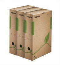 """ESSELTE Archiváló doboz, A4, 80 mm, újrahasznosított karton, ESSELTE """"Eco"""", barna"""