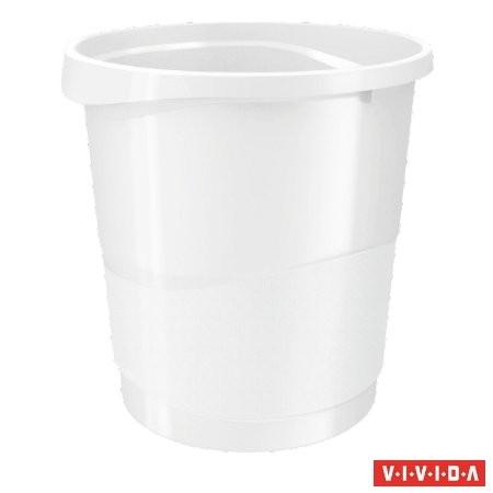 """ESSELTE Papírkosár, 14 liter, ESSELTE """"Europost"""", Vivida fehér"""