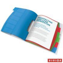 """ESSELTE Előrendező, A4, 6 részes, műanyag, ESSELTE """"Vivida"""", áttetsző"""