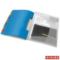 """ESSELTE Előrendező, A4, 12 részes, műanyag, ESSELTE """"Vivida"""", áttetsző"""