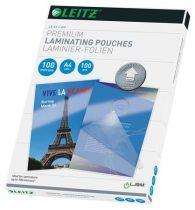 """LEITZ Meleglamináló fólia, 100 mikron, A4, fényes, UDT technológiával, LEITZ """"iLam"""""""