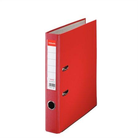 "ESSELTE Iratrendező, 50 mm, A4, PP/karton, élvédő sínnel, ESSELTE ""Economy"", piros"