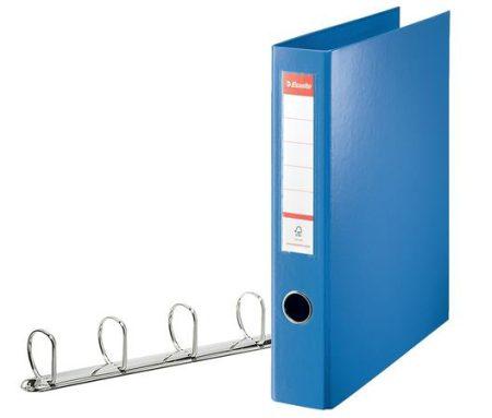 """ESSELTE Gyűrűs könyv, 4 gyűrű, D alakú, 60 mm, A4 maxi, PP, ESSELTE """"Jumbo Vivida"""", kék"""