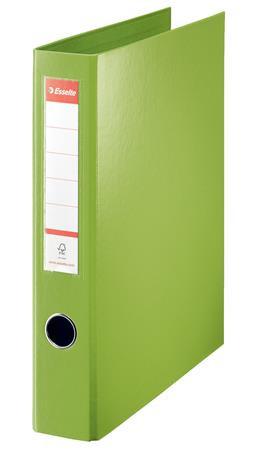 """ESSELTE Gyűrűs könyv, 4 gyűrű, D alakú, 60 mm, A4 maxi, PP, ESSELTE """"Jumbo Vivida"""", zöld"""