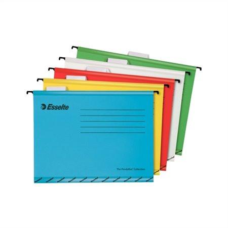 """ESSELTE Függőmappa, újrahasznosított karton, A4, ESSELTE """"Classic"""", vegyes színek"""