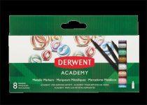 """DERWENT Filctoll készlet, DERWENT, """"Academy"""", 8 különböző metál szín"""