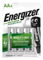 """ENERGIZER Tölthető elem, AA ceruza, 4x2000 mAh, ENERGIZER """"Power Plus"""""""