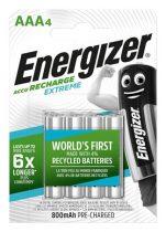 """ENERGIZER Tölthető elem, AAA mikro, 4x800 mAh, előtöltött, ENERGIZER """"Extreme"""""""