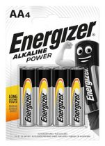 "ENERGIZER Elem, AA ceruza, 4 db, ENERGIZER ""Alkaline Power"""