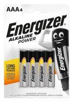 "ENERGIZER Elem, AAA mikro, 4 db, ENERGIZER ""Alkaline Power"""