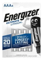 "ENERGIZER Elem, AAA mikro, 4 db, Lítium, ENERGIZER ""Ultimate Lithium"""