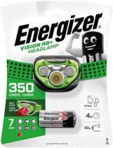 "ENERGIZER Fejlámpa, 3 LED, 3xAAA, ENERGIZER ""Headlight Vision HD Plus"""