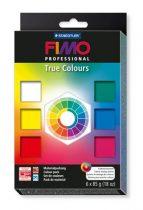 """FIMO Gyurma készlet, 6x85 g, égethető, FIMO """"Professional True Colours"""", 6 különböző szín"""