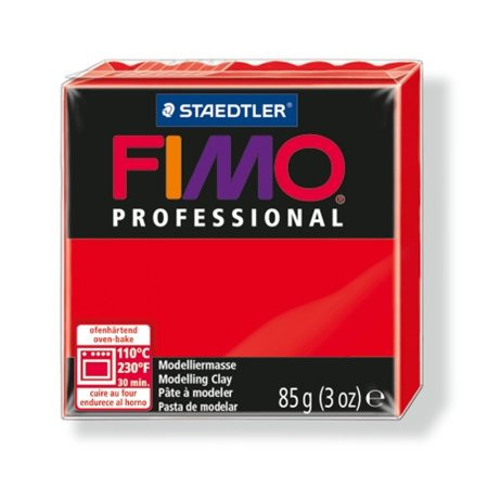 "FIMO Gyurma, 85 g, égethető, FIMO ""Professional"", piros"