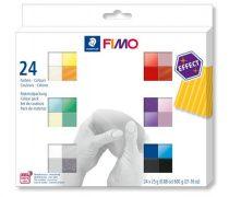 """FIMO Gyurma, készlet, 24x25 g, égethető, FIMO """"Effect Colours"""" 24 különböző szín"""