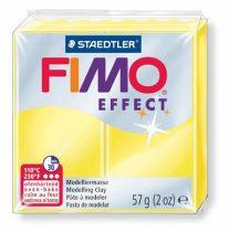 """FIMO Gyurma, 56 g, égethető, FIMO """"Effect"""", áttetsző sárga"""