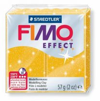 "FIMO Gyurma, 56 g, égethető, FIMO ""Effect"", csillámos arany"