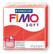 "FIMO Gyurma, 57 g, égethető, FIMO ""Soft"", indián piros"