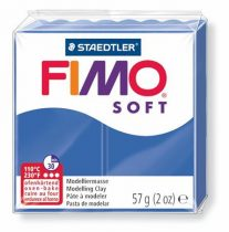 "FIMO Gyurma, 57 g, égethető, FIMO ""Soft"", fényes kék"
